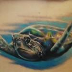 Tatuagem de tartaruga marinha - Símbolo de longevidade. (Foto: divulgação)