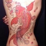Tatuagem de carpa nas costas. (Foto: divulgação)