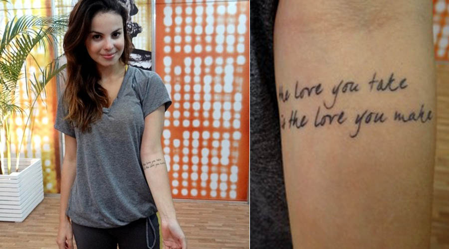 A tatuagem de Stephany Brito (Foto: divulgação)