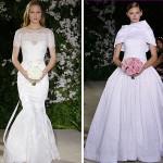 Vestido de noiva com inspiração retrô e corpete. (Foto: divulgação)