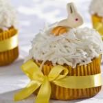 Cupcake de laranja decorado para a Páscoa. (Foto: divulgação)