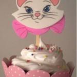 Cupcake decorado para festa infantil feminina. (Foto: divulgação)