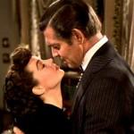 E o Vento Levou - Scarlett (Vivien Leigh) e Rhett (Clark Gable).