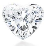 Amor à Primeira Vista - Conhecida como Love At First Sight (Amor à Primeira Vista, em português), esta peça, em forma de coração e com 56,15 quilates, foi arrematada em Genebra, na Suíça, por R$ 19,2 milhões (US$ 11 milhões). (Foto: divulgação)