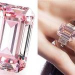 The Perfect Pink - O Perfect Pink tem 14,23 quilates, tinha preço estimado em R$ 43,6 milhões (US$ 19 milhões) e foi arrematado por um comprador anônimo por R$ 53 milhões (US$ 23,1 milhões) (Foto: divulgação)