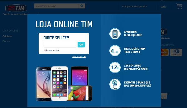 No site da TIM você encontra além do auto atendimento a loja online (Foto: Divulgação TIM)