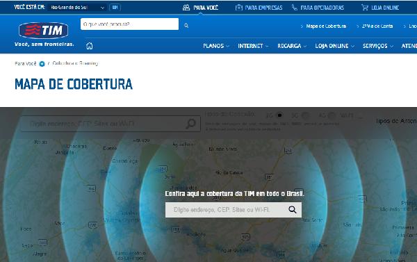 No site da TIM você encontra o mapa com  a cobertura TIM (Foto: Divulgação TIM)