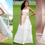 Vestido branco com detalhes coloridos. (Foto: Divulgação)