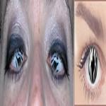 A estampa animal print não poderia faltar nos olhos com as lentes de contato. (Foto: divulgação)