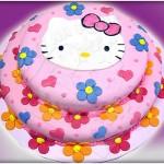 Bolo infantil decorado com a Hello Kitty. (Foto: divulgação)
