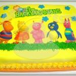 Bolo infantil decoração Backy Ardigans. (Foto: divulgação)