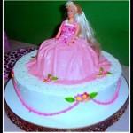 Bolo infantil da Barbie. (Foto: divulgação)