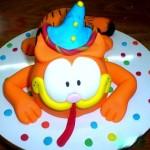 Bolo infantil do Garfield, decoração perfeita para festa (Foto: divulgação)