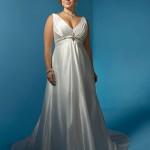 Um belo decote em V na medida certa para valorizar noivas com seios grandes, sem cair na vulgaridade.   (Foto: divulgação)