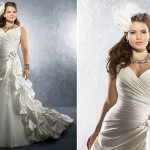 A ordem é: menos é muito mais! Se escolher um vestido com bordados, prefira os que formem linhas verticais, pois elas visualmente alongam a silhueta. (Foto: divulgação)