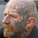 Os homens são os campeões em tatuagens no rosto. (Foto: divulgação)