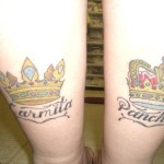 A tatuagem pode vir acompanhada de nomes. (Foto: divulgação)