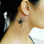 Elas podem ser feitas na lateral do pescoço como essa aranha. (Foto: divulgação)