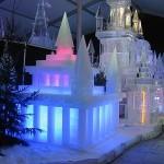 Castelo colorido de gelo (Foto: divulgação)