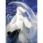 Escultura de Mamute no gelo. (Foto: divulgação)