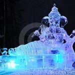 O clima frio do inverno serve de inspiração para as esculturas. (Foto: divulgação)