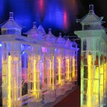 Esculturas de gelo - uma das obras de arte mais bonitas de se ver. (Foto: divulgação)