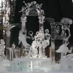 A duração dessas esculturas depende da climatização do local. (Foto: divulgação)
