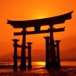 Grande portal em Itsukushima, Japão (Foto: divulgação)