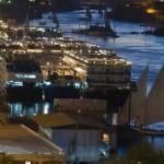 Pôr do sol em Aswan, com feluccas e dahabiyas, embarcações de cruzeiro, ancoradas ao longo do rio Nilo (Foto: divulgação)