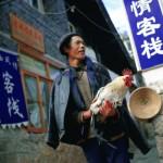É comum os chineses terem galinhas como animais de estimação. (Foto: divulgação)