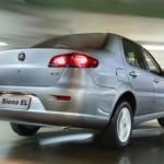 A traseira do Fiat Siena 2013 também ganhou modificações
