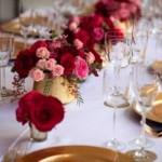 Combine o rosa e o vermelho a outras cores, como branco e dourado.