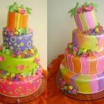A criatividade não tem limites na confecção de bolos coloridos. (Foto: divulgação)