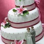 Bolo de noiva colorido (Foto: divulgação)