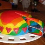 Bolo colorido para festa infantil (Foto: divulgação)