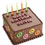 Bolo de chocolate decorado para aniversário (Foto: divulgação)