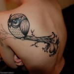 Tatuagem de coruja: fotos
