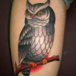 Tatuagem de coruja no braço (Foto: divulgação)