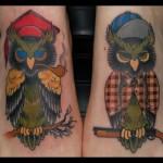 Tatuagens de corujas engraçadas nos pés  (Foto: divulgação)