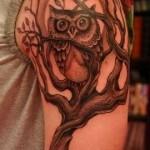 Tatuagem masculina de coruja  no antebraço (Foto: divulgação)