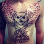 Tatuagem de coruja. (Foto: Divulgação)