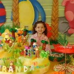 O tema Backyardigans deixa o aniversário infantil colorido e animado.