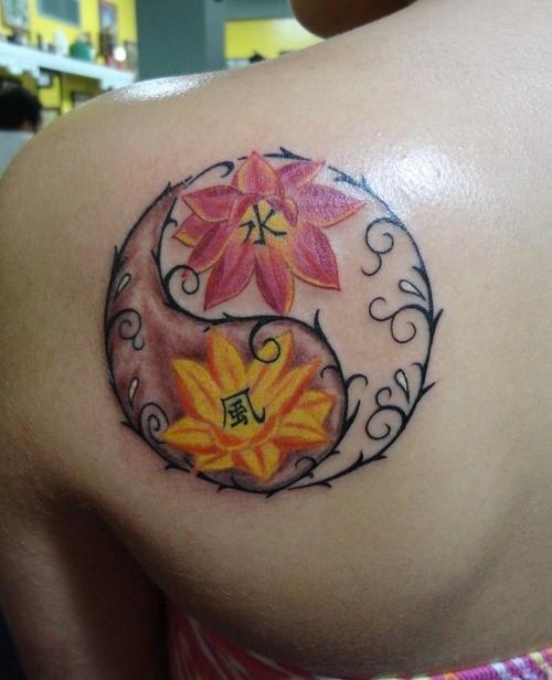 Tatuagem yin yang floral (Foto: divulgação)