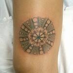 Tatuagem de mandala no braço (Foto: divulgação)
