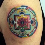 Tatuagem de mandala - A palavra mandala vem do sânscrito de origem hindu (Foto: divulgação)