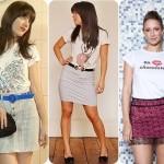 A saias com t-shirts caem muito bem e deixam o visual mais chique. (Foto:Divulgação)