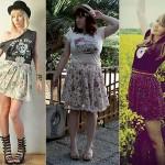 Os visuais com saia ficam bem femininos. (Foto:Divulgação)
