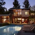 Casa de madeira moderna.