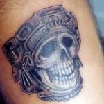 Tatuagem de caveira sombreada (Foto: divulgação)