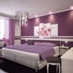 O violeta pode ser usado na decoração em tons diferentes.